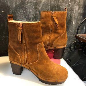 Clark's Ledella Abby Platform Clog Ankle Boots 7